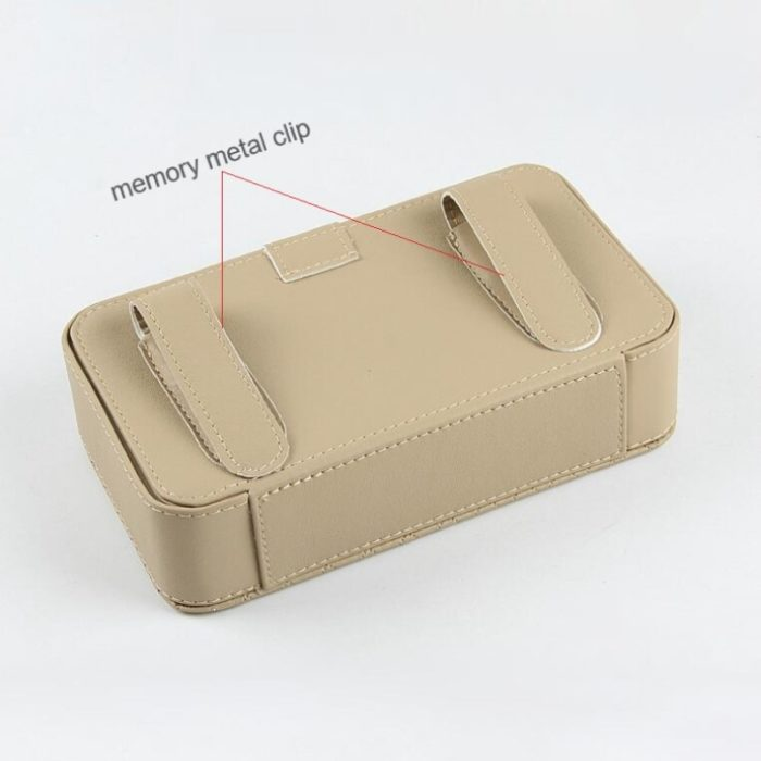 Car Tissue Box Leather Auto Organizer
