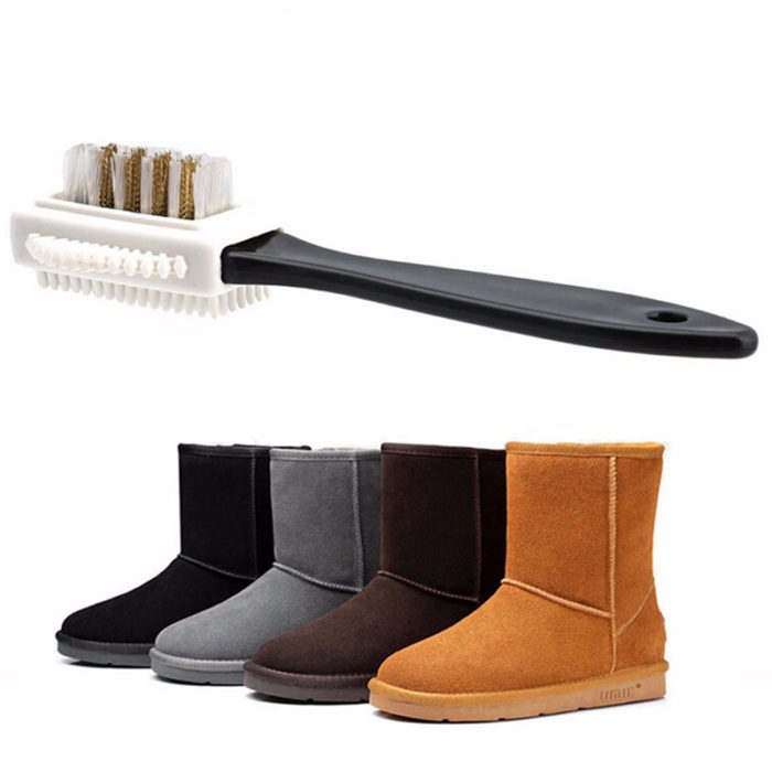 Suede Shoe Brush 3-Sided Tool
