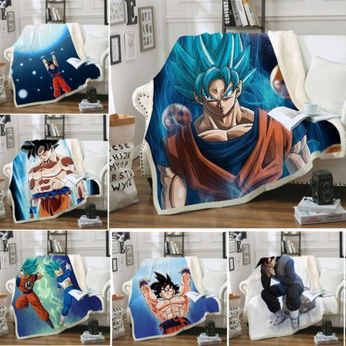 Anime Blanket Dragon Ball Design
