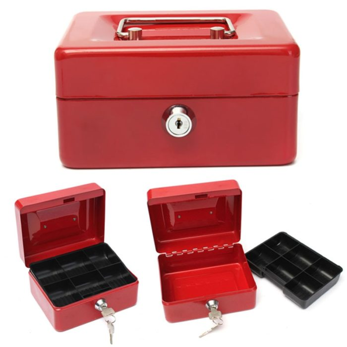 Money Safe Box Mini Cash Holder