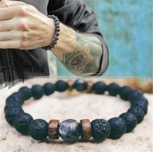 Lava Stone Bracelet Natural Charm