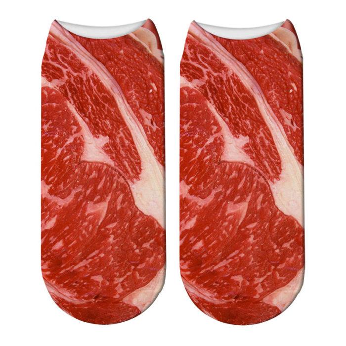 Bacon Socks Unisex Meat Socks