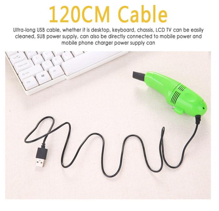 USB Mini Vacuum Cleaner Dust Remover