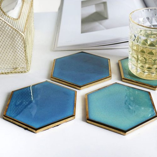 Resin Coaster Hand-Plated Decor