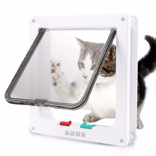 Cat Flap Door With 4 Way Lock