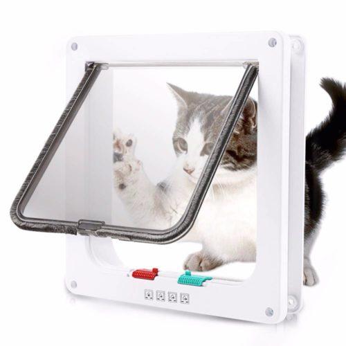 Cat Flap Door With 4 Way Lock