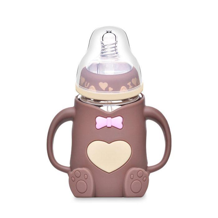Baby Bottle with Handles Cute Feeding Bottle