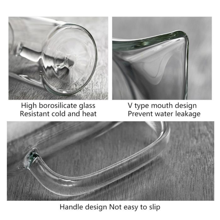 Transparent Glass Pitcher with Lid