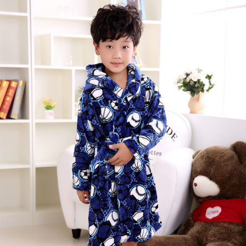 Boys Bathrobe Kids Soft Bathrobe