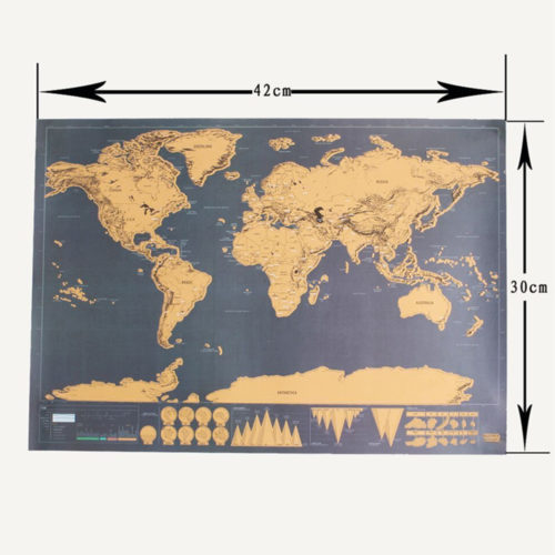 Scratch World Map Globe Poster