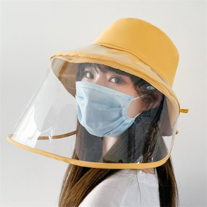 Removable Clear Face Shield with Hat