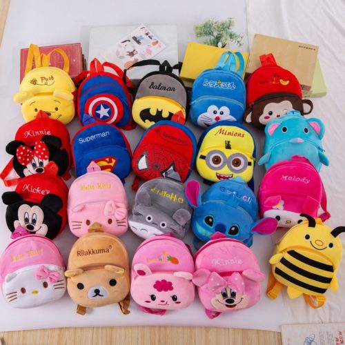 Toy Bag Kids Plush Cartoon Backpack