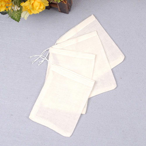 Reusable Tea Bags Mesh Fabric (10 pcs)