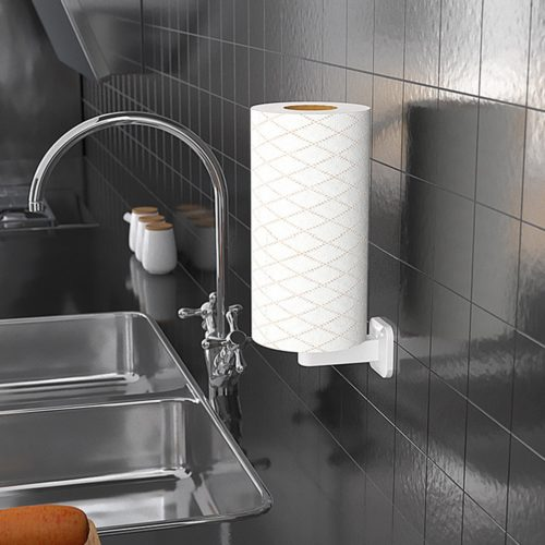 Wall Paper Towel Holder Vertical Design