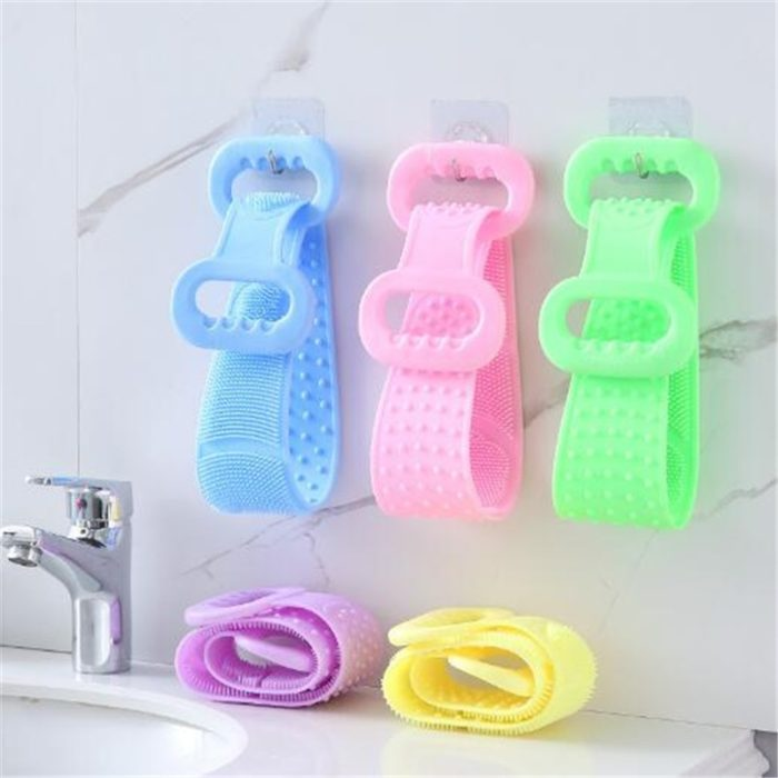 Bath Scrubber Silicone Loofah with Handle