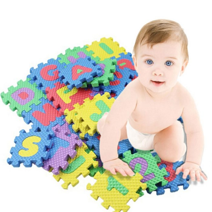 Foam Letter Mat Mini Toy Mats (36 pcs)