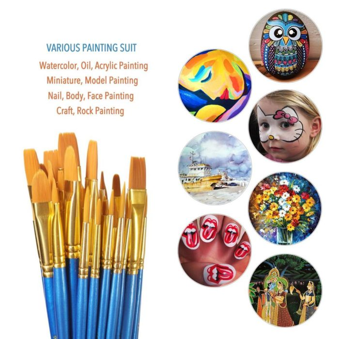 Oil Paint Brushes Synthetic (50 pcs)