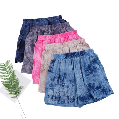 Ladies Cotton Shorts Mid Waist Shorts