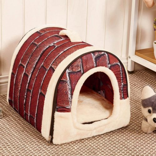 Dog Igloo Bed Soft Washable Pet House