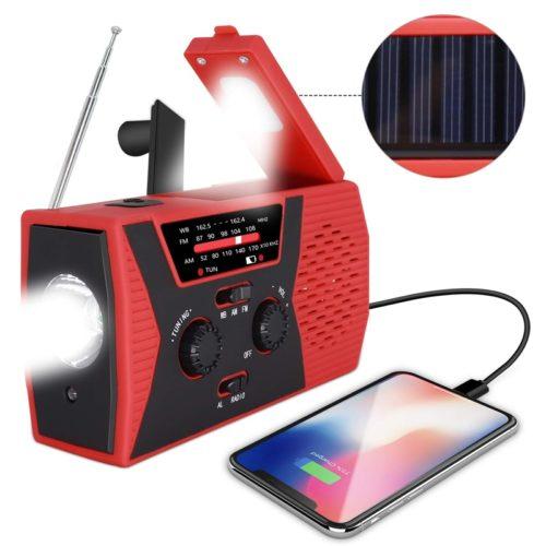Hand Crank Radio with Solar Panel