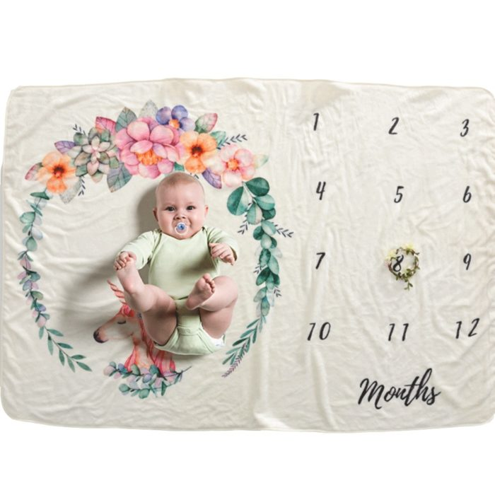 Monthly Milestone Blanket Photography Prop