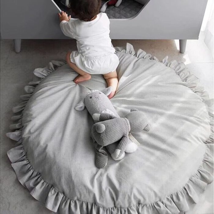 Padded Play Mat Round Baby Floor Mat