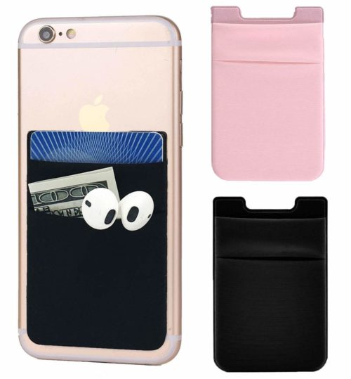 Credit Card Holder for Phone Stick-on Pouch