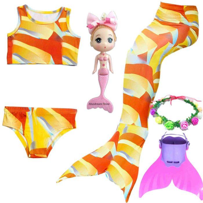 Mermaid Tail For Girls Swimming Costume