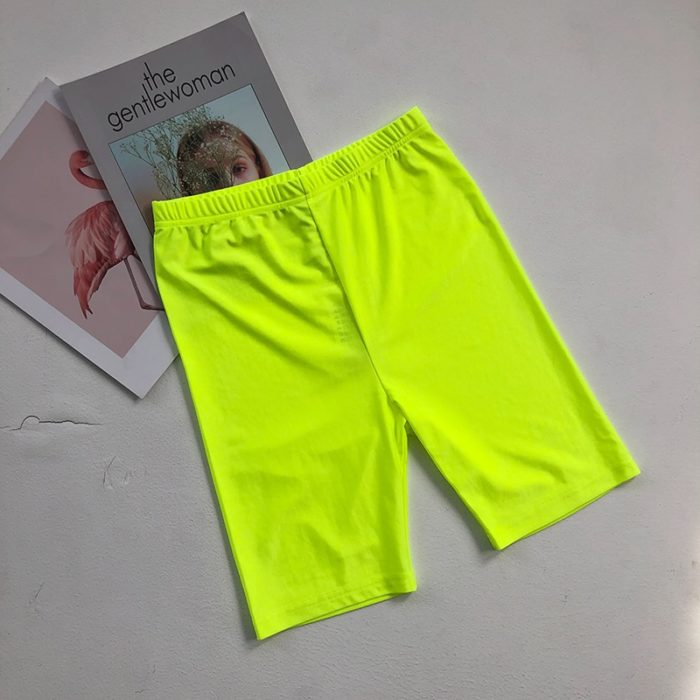 Elastic Biker Shorts for Women