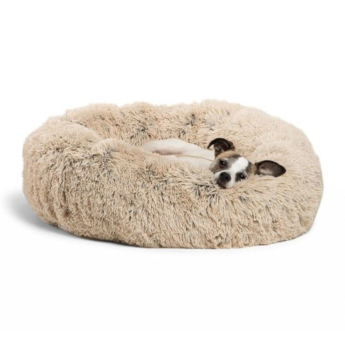 Round Dog Bed Plush Cushion Pet Bed