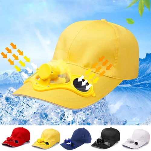 Cap with Fan Fashionable Solar Powered Cap