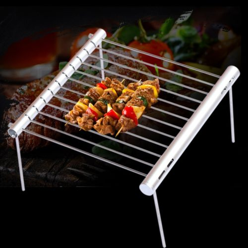 Camping BBQ Grill Folding Steel Stand