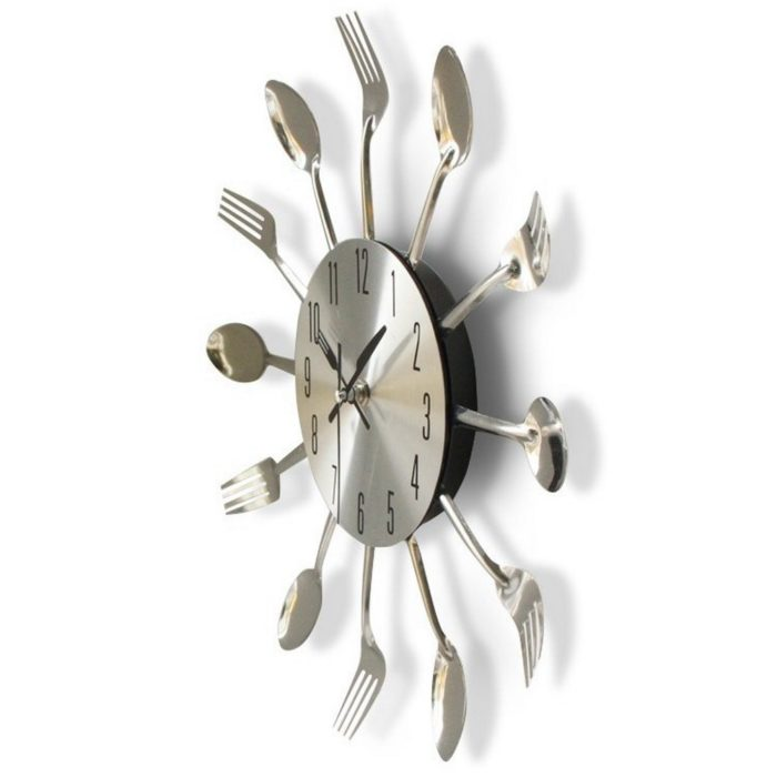 Kitchen Wall Clock Spoon and Fork Design