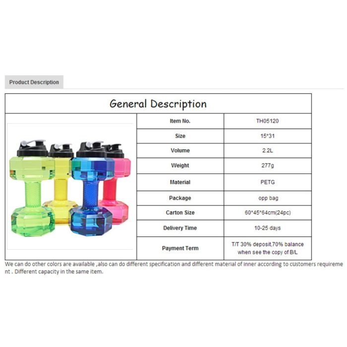 Water Bottle Dumbbell Fitness Tool