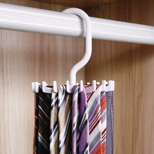 Tie Organizer 20-Slot Rotatable Hanger