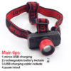 Rechargeable Head Torch LED Headlamp