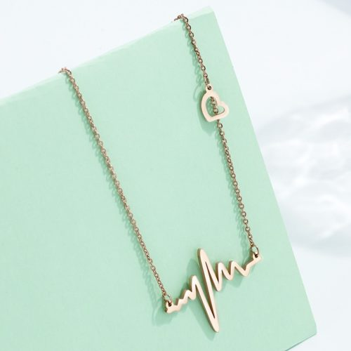 Heartbeat Necklace Ladies Lovely Necklace