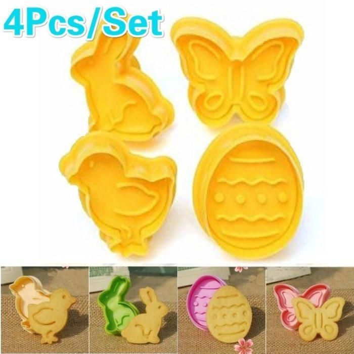 Cookie Cutter Set Plastic Molds (4pcs)