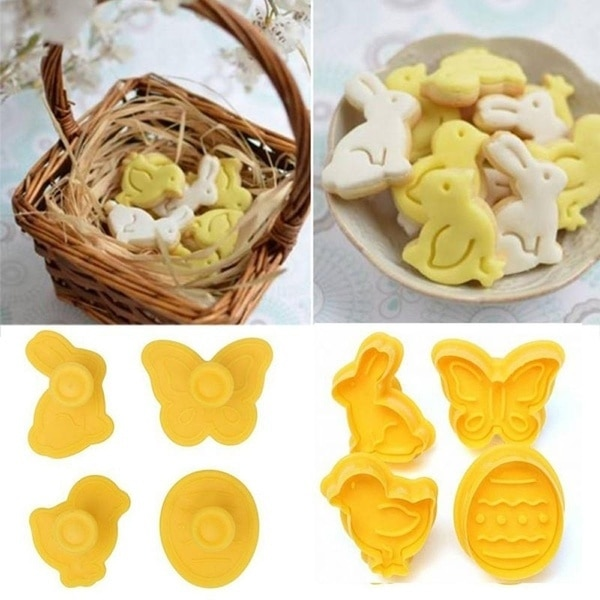 Cookie Cutter Set Plastic Molds (4pcs)