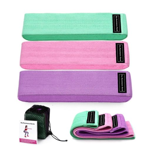 Cloth Resistance Band Fitness Set (3pcs)