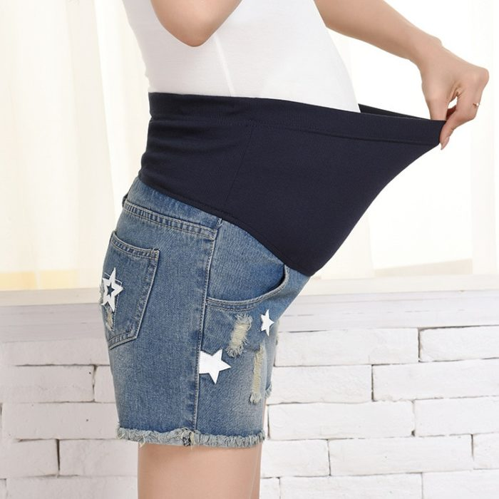 Pregnant Shorts Denim Maternity Shorts