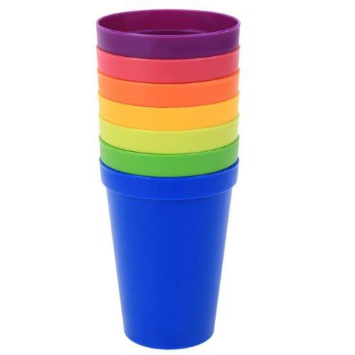 Reusable Plastic Cups 7Pcs Set