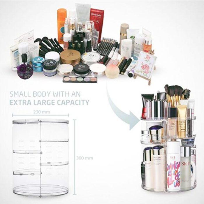 Countertop Makeup Organizer Rotating Rack