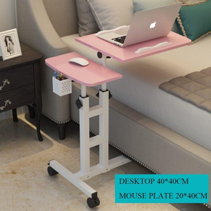 Rolling Laptop Desk Adjustable Table