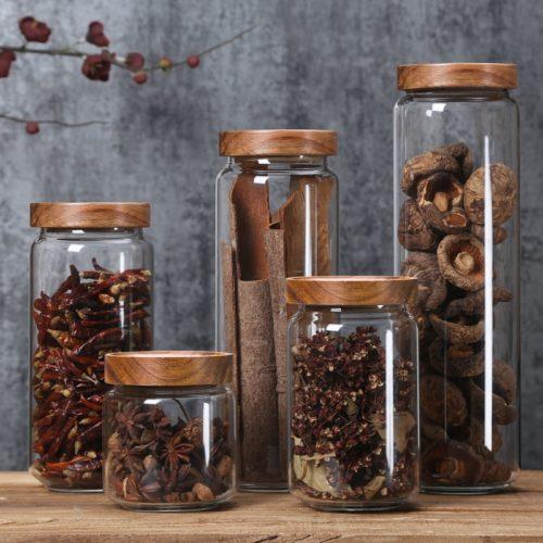 Glass Storage Jar Airtight Container