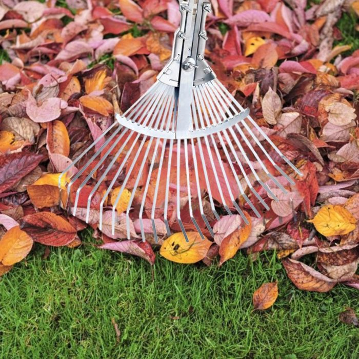 Leaf Rake Adjustable Garden Tool