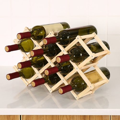 Wine Bottle Rack Wooden Wine Holder