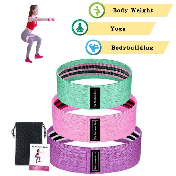 Squat Resistance Bands Fitness Belts (3Pcs.)