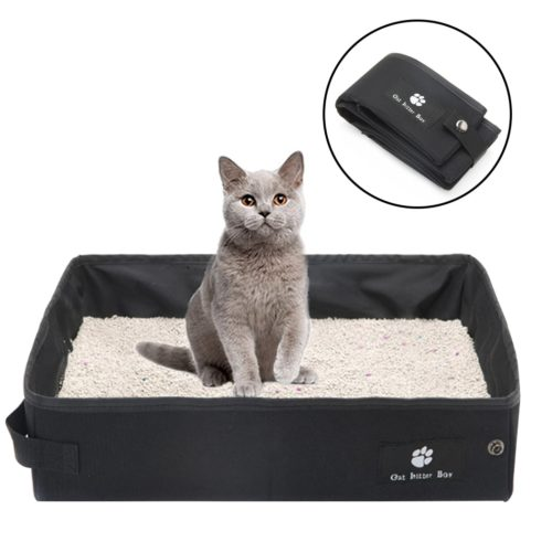Travel Litter Box Foldable Cat Pan