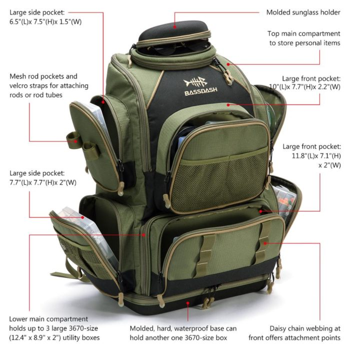 Tackle Backpack Multi-Pocket Bag